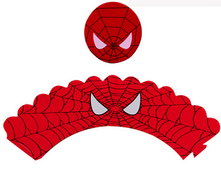 photograph relating to Free Printable Cupcake Wrappers and Toppers With Spiderman known as Spiderman Cup Cake Toppers