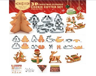 3D Holiday Cookie Cutters