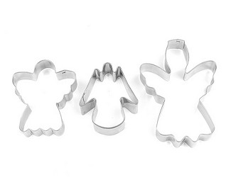 3 piece set of Angel Cookie Cutters