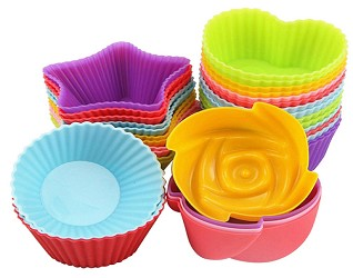 24 Silicone cupcake liners