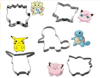 5 piece set of Pokemon character Cookie Cutters