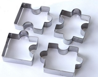 4  Puzzle shaped cookie cutters