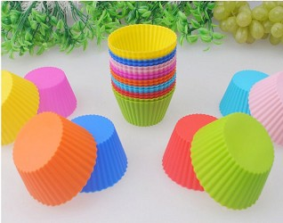 10 Silicone Cupcake Liners molds