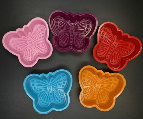 5 Butterfly Silicone Cupcake Liners molds