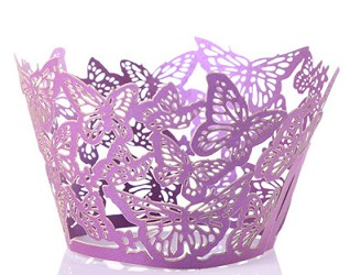 50 piece fancy butterfly Cupcake Liners
