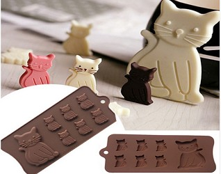 Kitty Cat Silicone Chocolate Mold