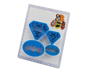 Set of 4 Super Hero Cookie Cutters