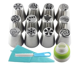 Pastry & Nozzle Cookie Decorating Set
