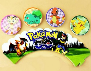 24 piece Pokemon Go Cupcake wrappers & topper set
