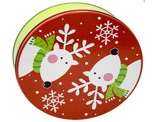 2 Dozen Cookie in Reindeer Gift Tin