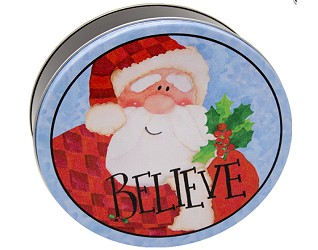 12 Cookies in Believe in Santa Holiday Tin