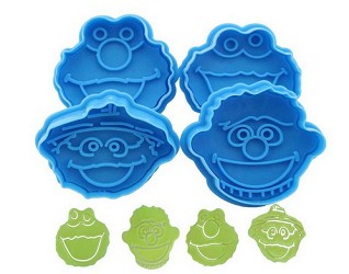 Set of 4 Sesame Street Cookie Cutters