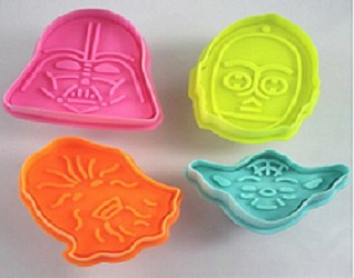 4 piece StarWars  Character Cookie Cutters