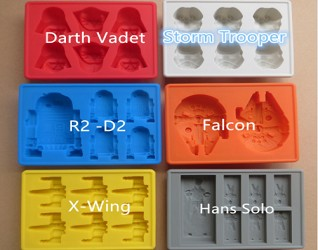 Star Wars 6 piece Silicone Mold set