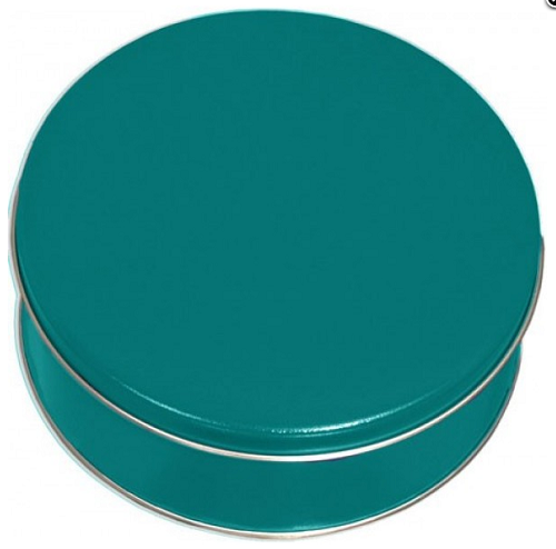 Teal Cookie Gift Tin