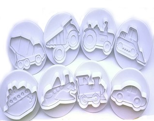 Set of 8 Automotive Cookie Cutters