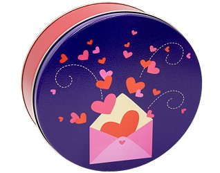 12 cookies in Hearts Gift Tin