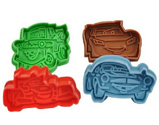 Set of 4 Cars Cookie Cutters