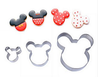 Set of 3 Mickey Mouse Cookie Cutters